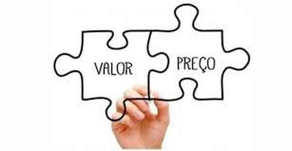 Imagem que representa preço e valor.
