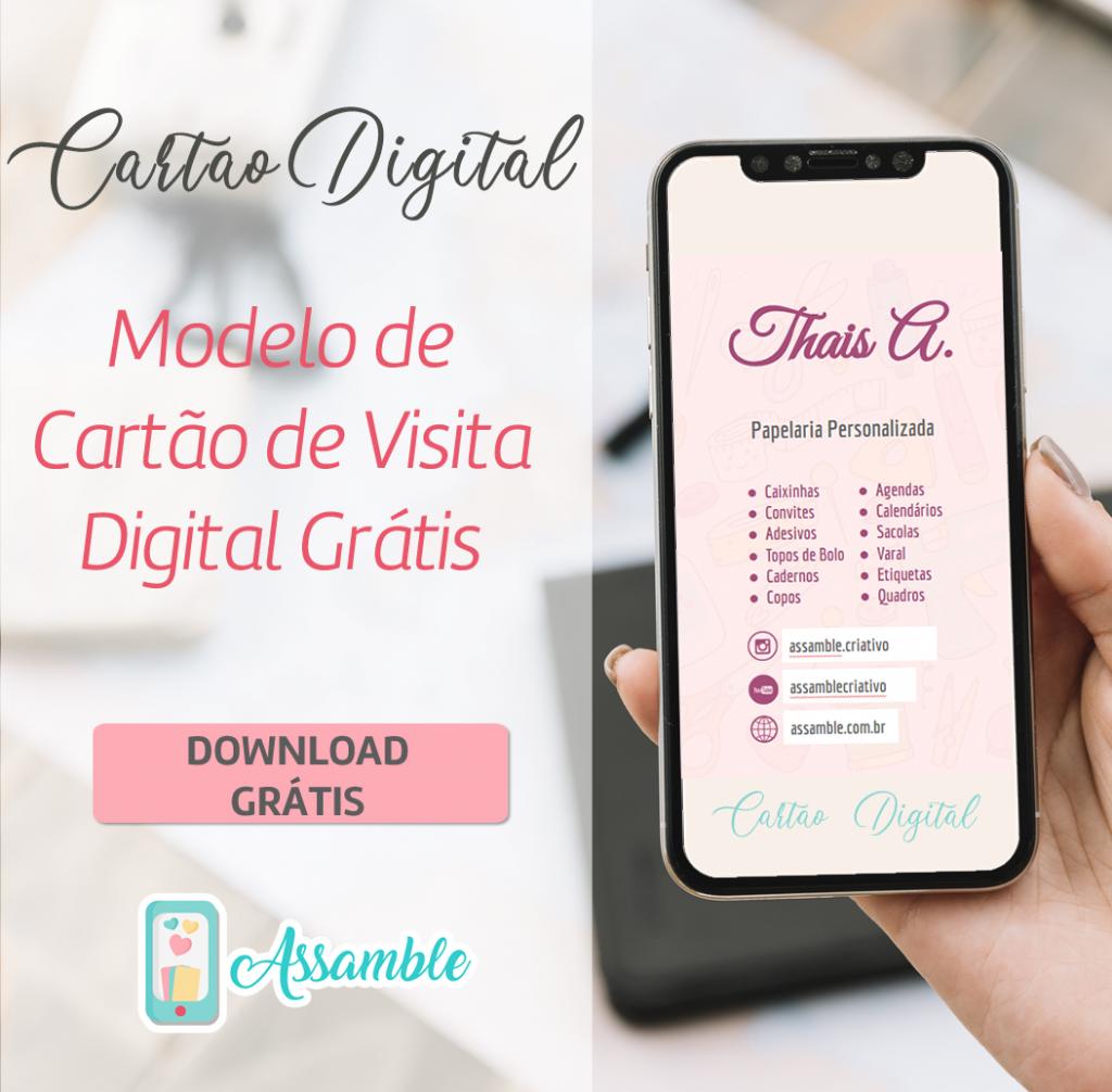 Cartão de visita digital grátis editável para download para negócios criativos de artesanato.